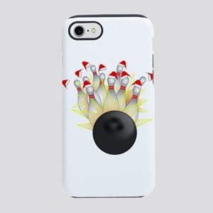 Christmas Bowling Ball And Pin iPhone 7 Tough Case