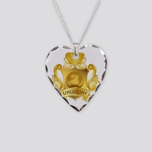 Gold3Uruguay1 Necklace Heart Charm