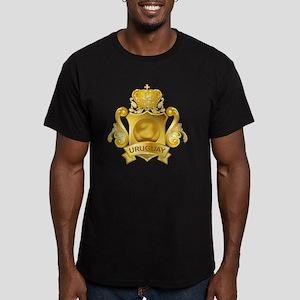 Gold3Uruguay1 Men's Fitted T-Shirt (dark)