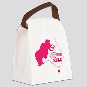 Aussie Chicks Rule Canvas Lunch Bag