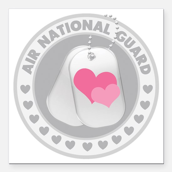 "ANGLogoHearts Square Car Magnet 3"" x 3"""