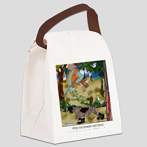 8485_dog_cartoon Canvas Lunch Bag