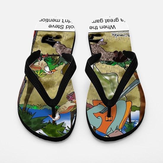 8485_dog_cartoon Flip Flops