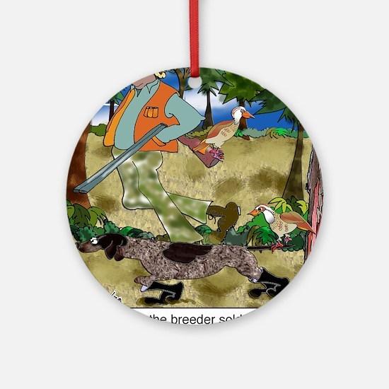8485_dog_cartoon Round Ornament