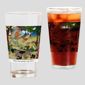8485_dog_cartoon Drinking Glass