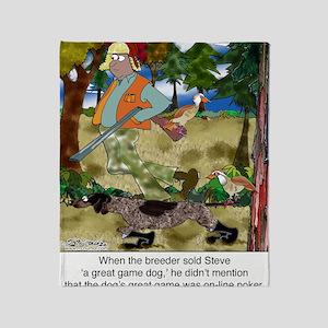 8485_dog_cartoon Throw Blanket