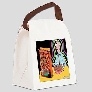 8434_fiber_optic_cartoon Canvas Lunch Bag