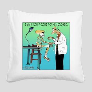 7659_medical_cartoon Square Canvas Pillow