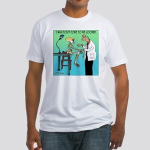 7659_medical_cartoon Fitted T-Shirt