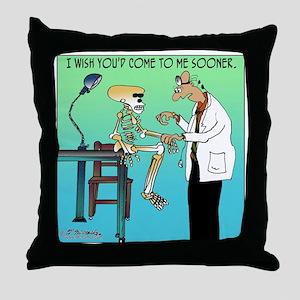 7659_medical_cartoon Throw Pillow