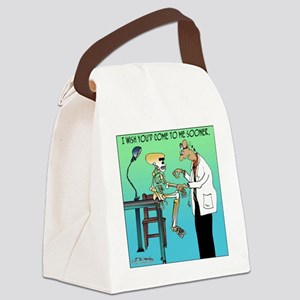 7659_medical_cartoon Canvas Lunch Bag