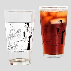 7150_computer_cartoon Drinking Glass