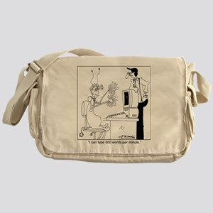 7150_computer_cartoon Messenger Bag