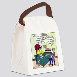 7885_accounting_cartoon Canvas Lunch Bag