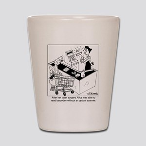 7372_bar_code_cartoon Shot Glass