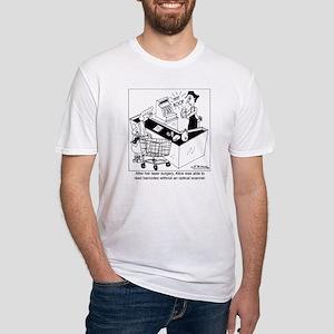 7372_bar_code_cartoon Fitted T-Shirt