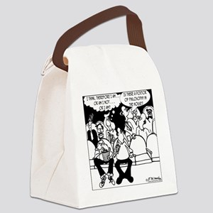 7291_religion_cartoon Canvas Lunch Bag