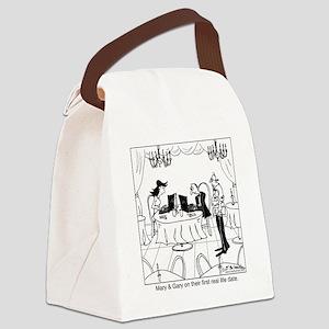 8134_dating_cartoon Canvas Lunch Bag