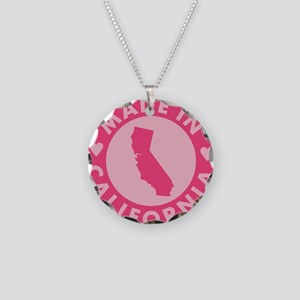 Pink-Made-In-Califotnia2 Necklace Circle Charm