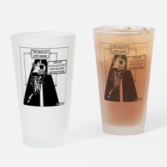 6239_computer_cartoon Drinking Glass