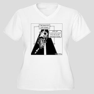 6239_computer_car Women's Plus Size V-Neck T-Shirt