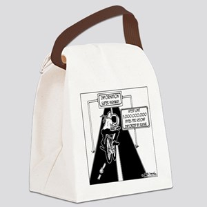 6239_computer_cartoon Canvas Lunch Bag