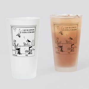 5397_computer_cartoon Drinking Glass
