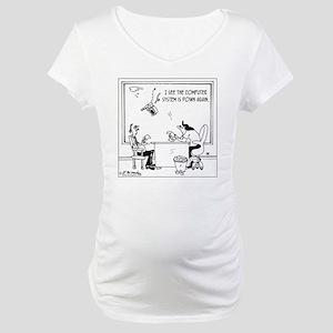 5397_computer_cartoon Maternity T-Shirt