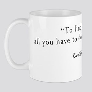 2-Bodhidharma quote black Mug
