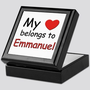 My heart belongs to emmanuel Keepsake Box