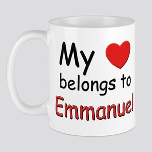 My heart belongs to emmanuel Mug