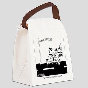3441_chicken_cartoon Canvas Lunch Bag