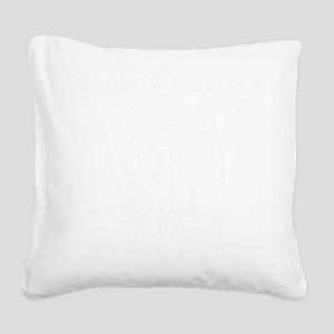 white Square Canvas Pillow