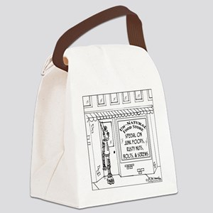 3619_health_food_cartoon Canvas Lunch Bag