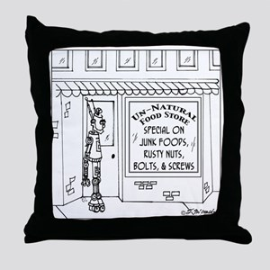 3619_health_food_cartoon Throw Pillow