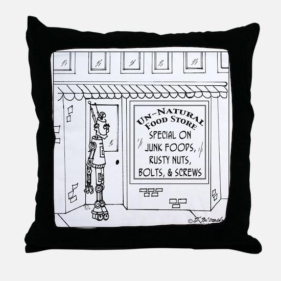 3619_health_food_cartoon Throw Pillow