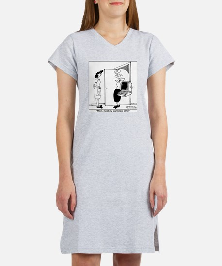 4453_relationship_cartoon Women's Nightshirt