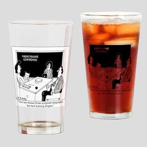 2863_computer_cartoon_TWZ Drinking Glass
