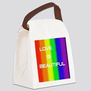 Love Is Beautiful Canvas Lunch Bag
