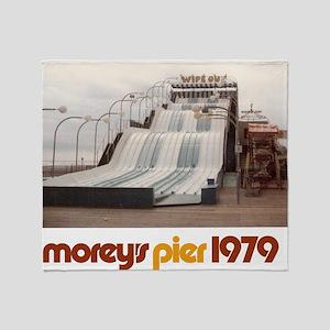moreys-pier-wipeout-1979 Throw Blanket