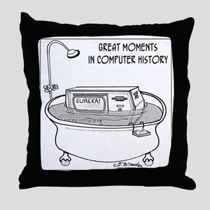 1719_computer_cartoon Throw Pillow