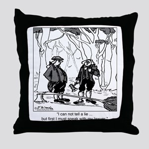 2078_history_cartoon Throw Pillow