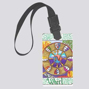 wheel of fortune Large Luggage Tag