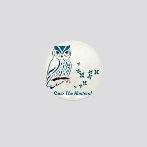 2-owl blueowl_bluets Mini Button
