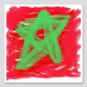 "MAROC BY KIDS Square Car Magnet 3"" x 3"""