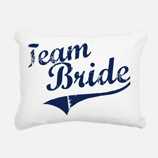teambride_blue Rectangular Canvas Pillow