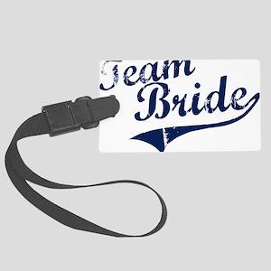 teambride_blue Large Luggage Tag