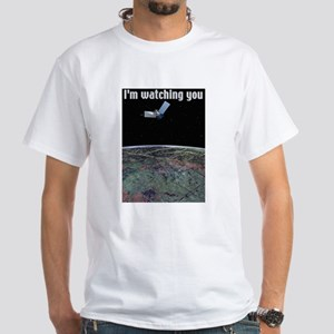 I'm watching you White T-shirt