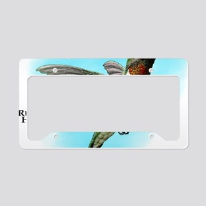 Ruby-Throated Hummingbird License Plate Holder