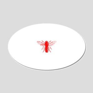 Honey Bee 20x12 Oval Wall Decal